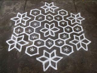 Rangoli designs/Kolam: S.No. 66 :-15-8 pulli kolam - interlaced dots kola...