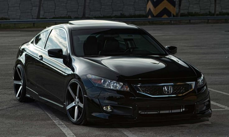 Grey accord coupe | Black Honda Accord Custom Rims Car Picture HD Wallpaper | Auto Heed