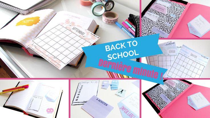 II BACK TO SCHOOL II Dernière minute pour customiser son agenda ! - YouTube