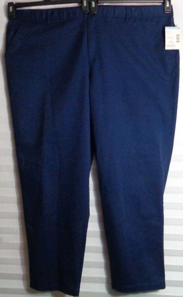 c37b40a90ae447 Laura Scott Navy Blue Chino No Gap Pant Women's Plus Size 24W (u)  #LauraScott #Straight