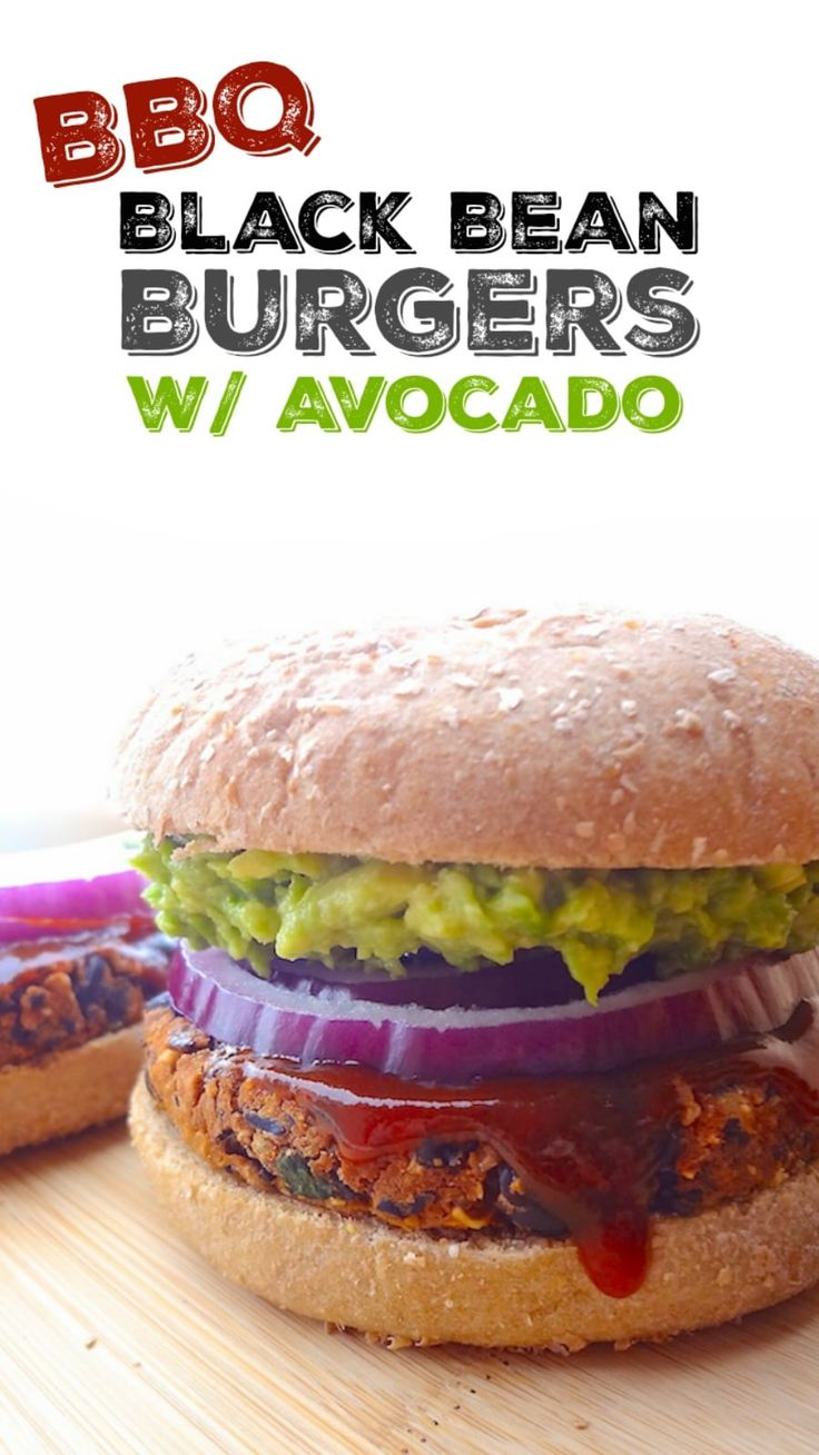 No Crumble BBQ Black Bean Burgers are a perfectly crave-able vegan burger that w…