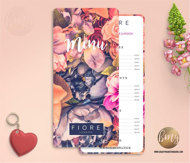 Price List Desigm for Beauty Salon.  Menu Design / Pricelist Design Beauty Marketing