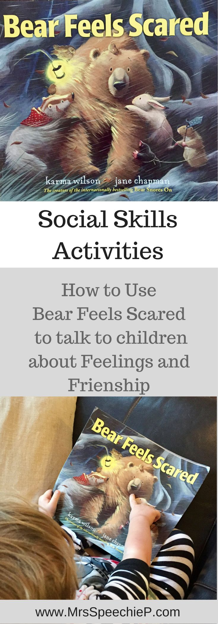 Help your child develop friendships and understand emotions using Bear Feels Scared.