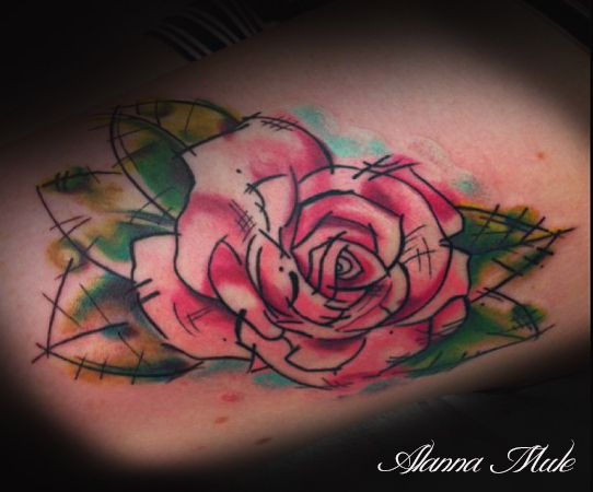 Abstract rose tattoo favz pinterest rose tattoos for Abstract rose tattoo
