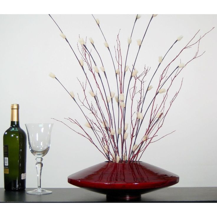 <li>Vase and floral set is a natural product made from renewable resources</li> <li>Vase is handcrafted from natural bamboo by artisans in Southeast Asia </li> <li>Decorative vase is finished in dark, burgundy red</li>