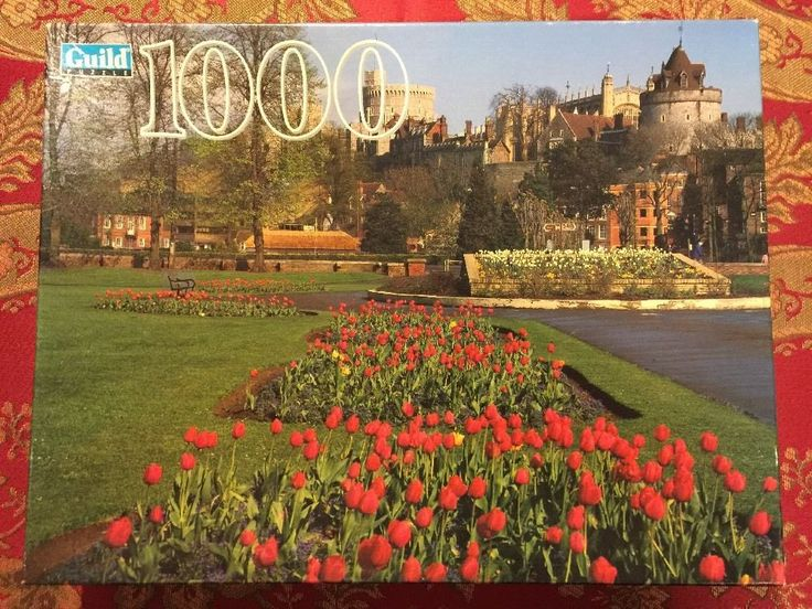 NEW Guild Puzzle 1000 Piece Windsor England 4710-18 1996 Parker Brothers SEALED #Guild