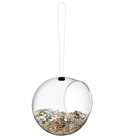 This feeder comes in a pack of two and is shaped like a bird's nest. They would look very pretty hung at different heights.