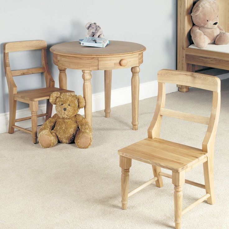 Amelie Solid Oak Children's Play Chair -  - Dining Chair - Baumhaus - Space & Shape - 1