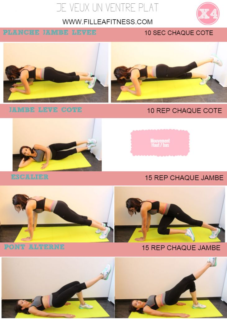 Je veux un ventre plat en 15 minutes - Fille à fitness programme fitness ventre plat sur fille à fitness http://www.filleafitness.com/2015/11/10/ventre-plat-programme/