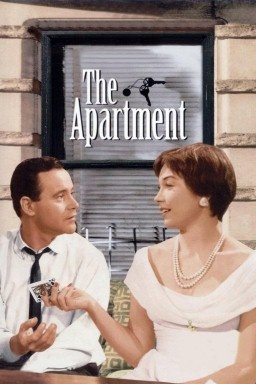 The Apartment, 1960, comedy-drama, produced and directed by Billy Wilder, starring Jack Lemmon, Shirley MacLaine, and Fred MacMurray.