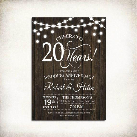 Best AnniversaryInvitations Images On   Birthday