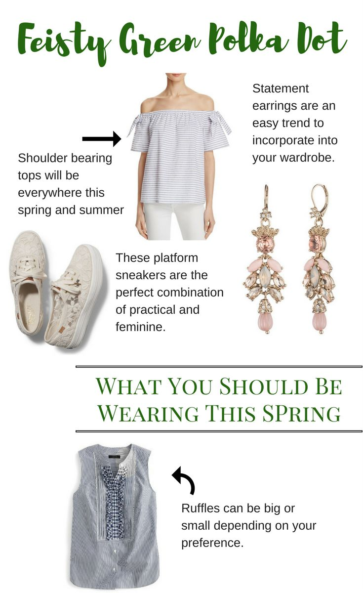 What You Should Be Wearing This Spring Spring Trends | Ruffles | Earrings | Platforms