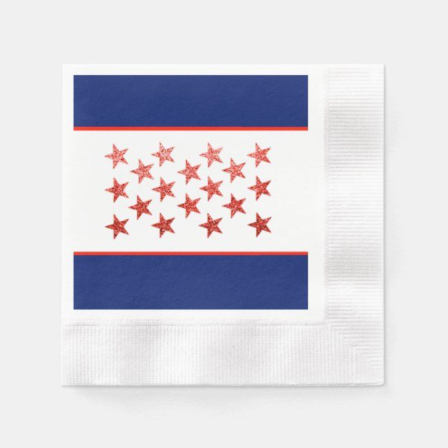 Red White Blue Flag Stars Arrows 4th Of July Napkins Zazzle Com In 2020 Napkins 4th Of July Personalized Paper Napkins