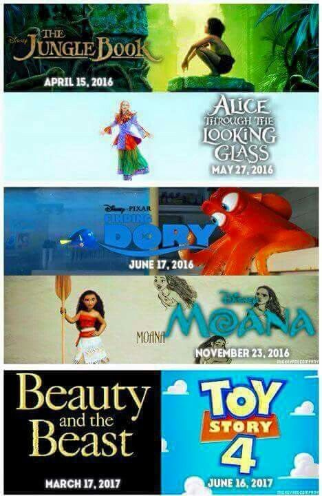 By the time they make Toy Story 4,  I would've already graduated high school but you can bet I'll be in that theater crying my eyes out!  I'm excited for all of these,  including Finding Dory!!!