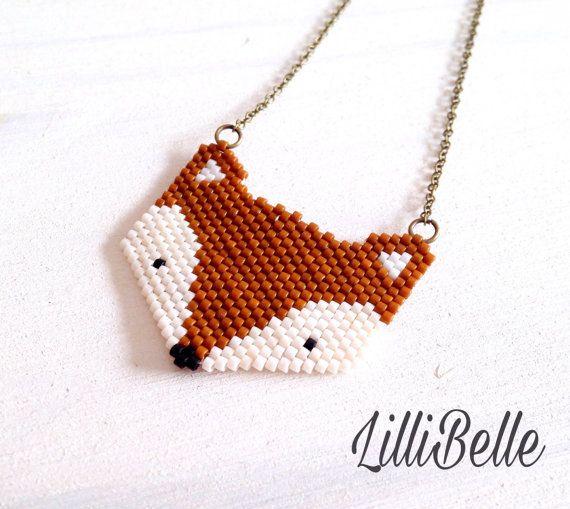 Renard tissé en perles Miyuki #lillibellebijoux #lillibelle #bijouxboheme