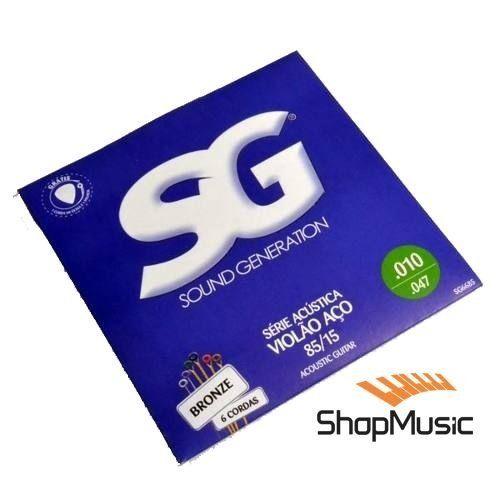 Com Tensão Média o encordoamento SG Violão Aço 010 SG6685 Bronze 85/15 é sucesso de vendas. Compre aqui com o melhor preço.