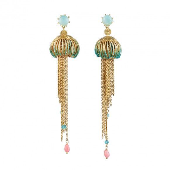 Boucles d'oreilles méduse et phosphorescente (grand modèle)