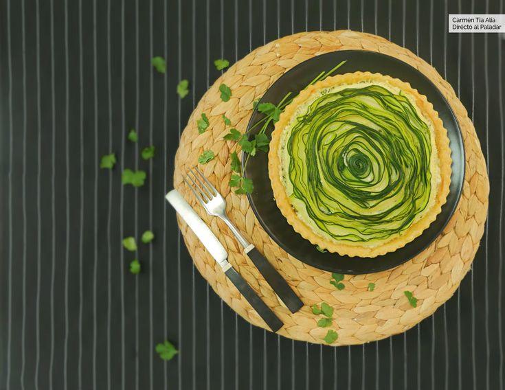 Quiche de espiral de calabacín y queso ricotta