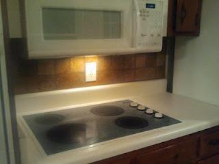 Easy Kitchen Back Splash: Sticky Tiles
