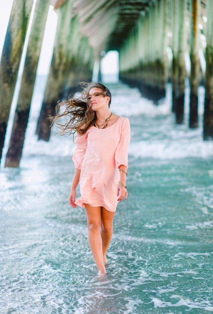 Senior Picture Ideas for Girls at the beach. Pictures under the pier. www.pashabelman.com