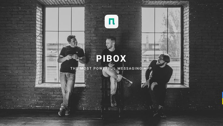 Pibox, messaging app on Behance