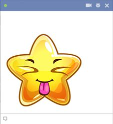 Enhance your next Facebook post with this bold emoticon.