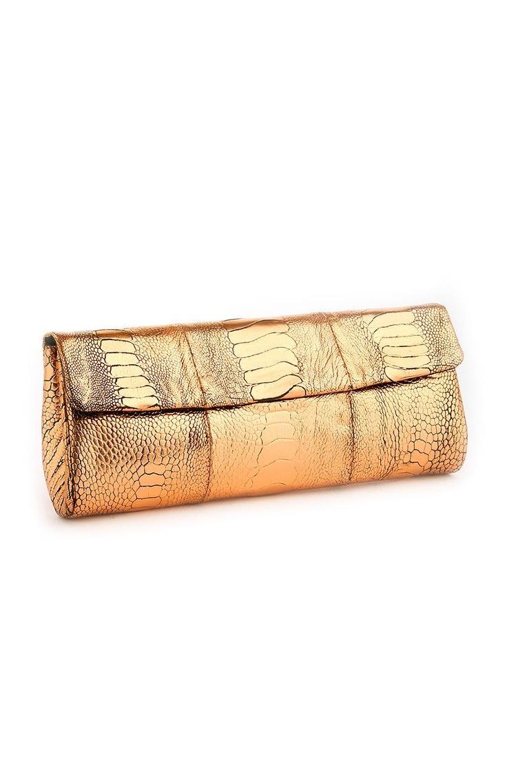 Medium Clutch Bag Gold Metallic from Naledi Copenhagen