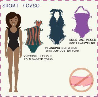 short torso bathing suit tips