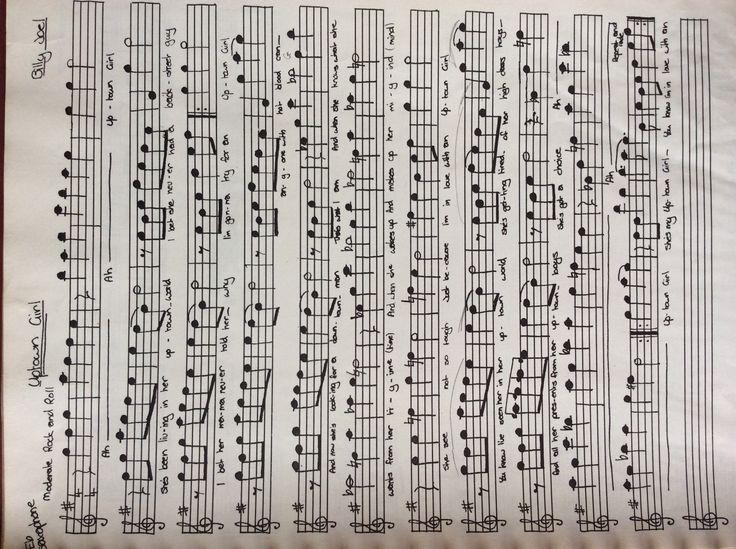 Uptown girl sheet music for alto saxophone sax music sheets