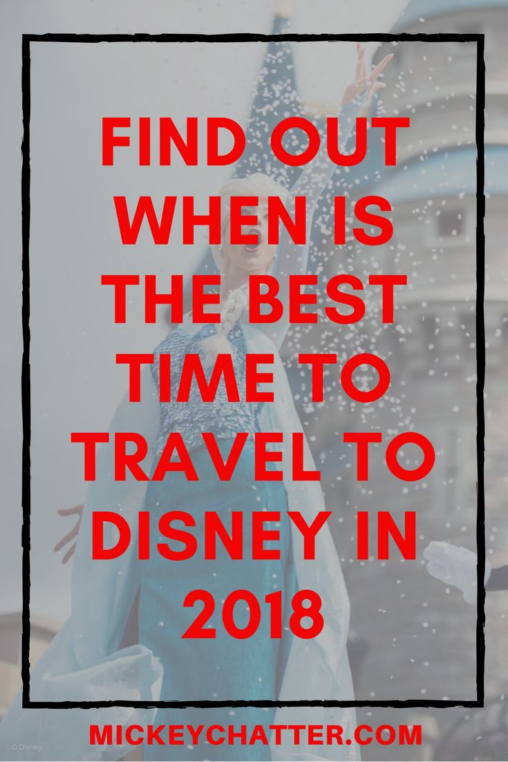 Learn when is the best time to travel to Disney World in 2018 - crowd calendar
