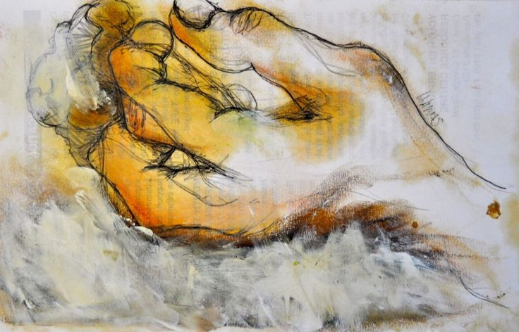 Hand Drawing: Beautiful Original painting of a hand #homeideas #interiordesign #decorating #art
