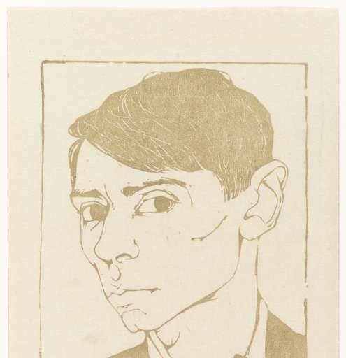 Zelfportret Jan Mankes, Jan Mankes, ca. 1900 - ca. 1920 - Rijksmuseum