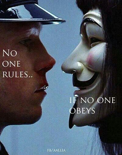 This should be looked at in regards to how authority (schools) and media tells us how we should be, not in regards to laws. If nobody conformed to these groups ideologies of how certain people should be seen and behave, would they still hold the power?