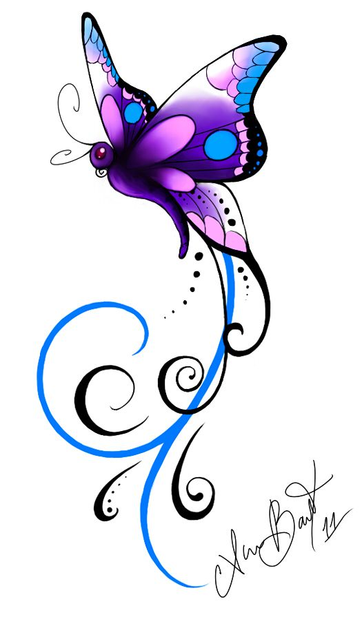 Butterfly Tattoos, Designs And Ideas : Page 14