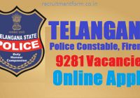 TSLPRB Telangana Police Constable Recruitment 2016