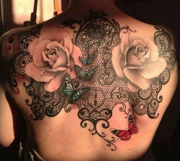 37 Modèles tatouage femme dentelle - 24