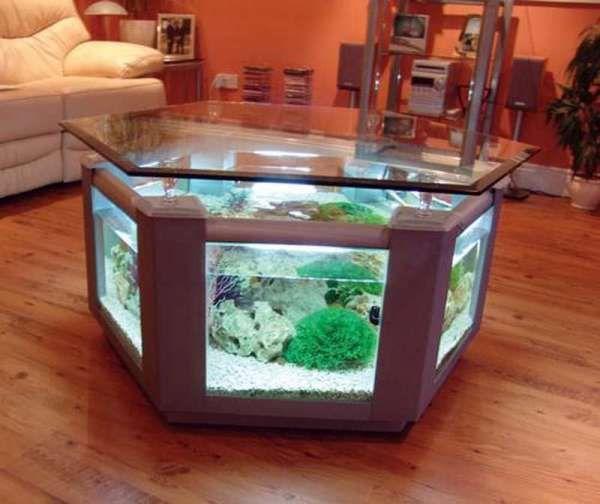 20 Idees Etonnantes Pour Ceux Qui Ont Envie De Renover Leur Maison Design De Table Table Basse Aquarium Table Basse Design