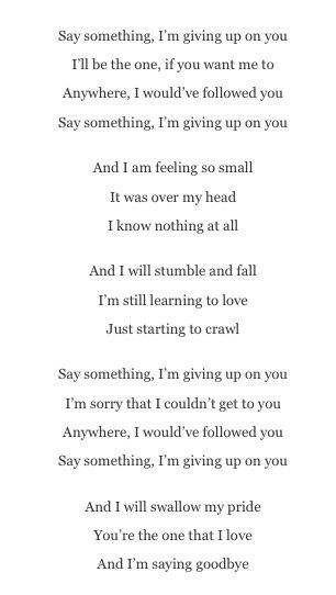 Lyrics saddest songs music lyrics say something lyrics lyrics