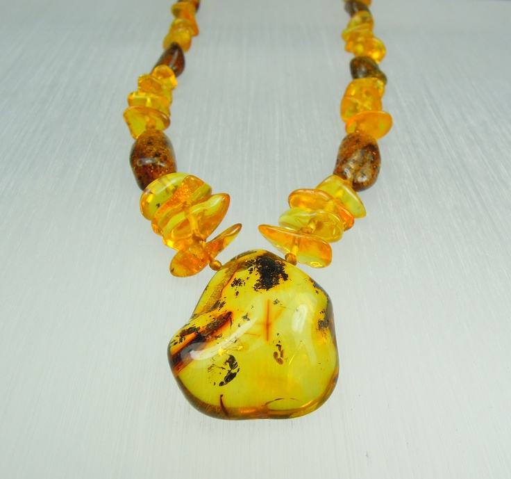 Amber necklace/pendant model