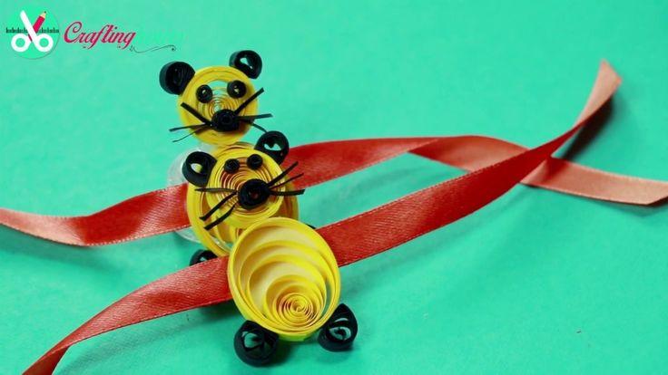 Rakhi Making Idea for Kids, How to Make Rakhi with Paper Quilling