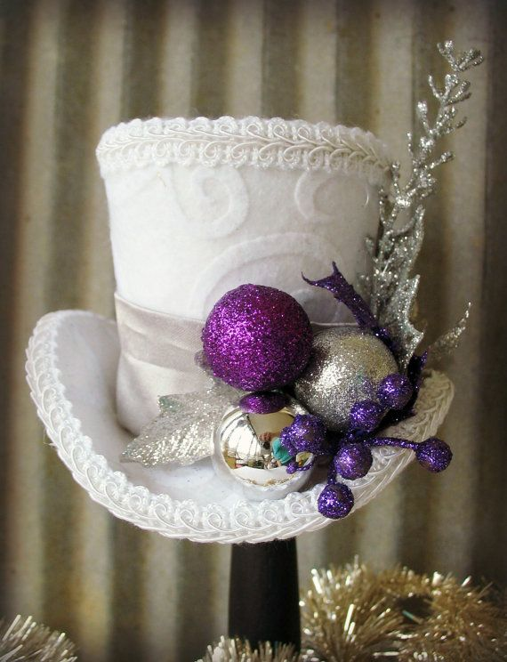 White Christmas with Purple Accents Mini by Somethingfancydesign, $26.00