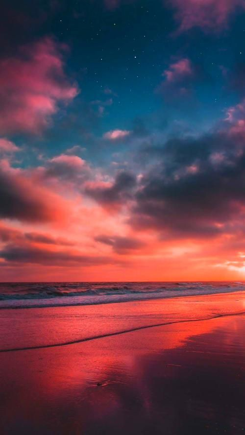 Beautiful Wallpaper Beach In The Night Sky Night Sky Wallpaper Wallpaper Iphone Christmas Iphone Wallpaper Vintage