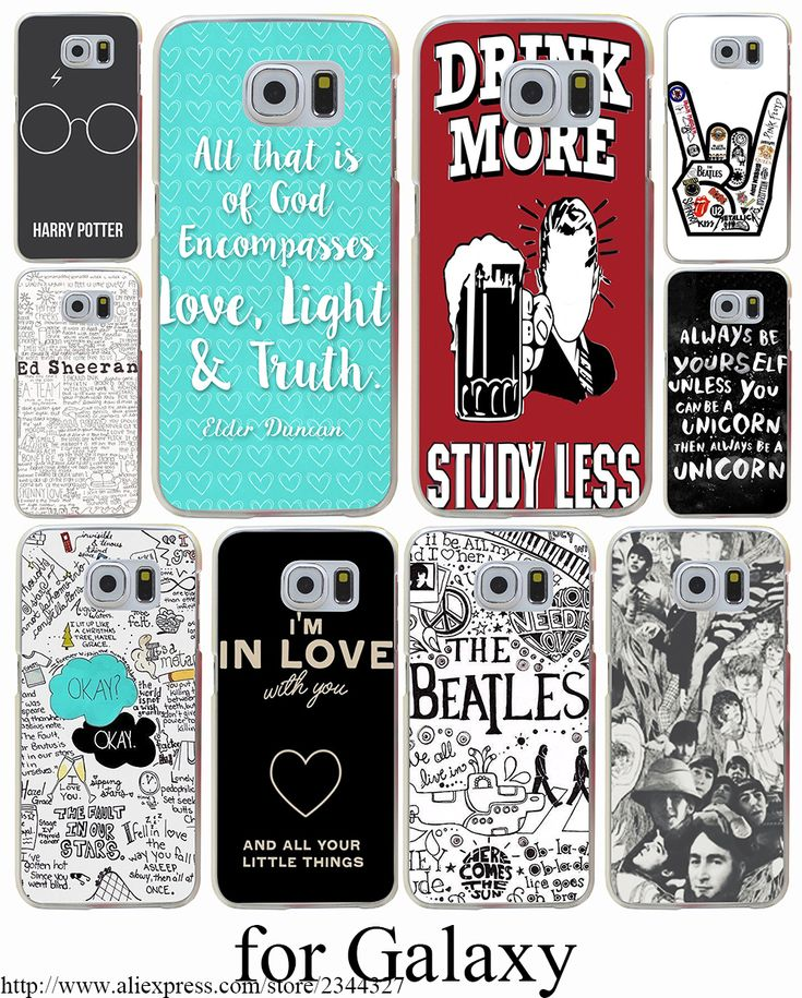 always be yourself Hard Transparent Case Cover for Samsung Galaxy S3 S4 S5 Mini S6 S7 S8 Edge Plus Case