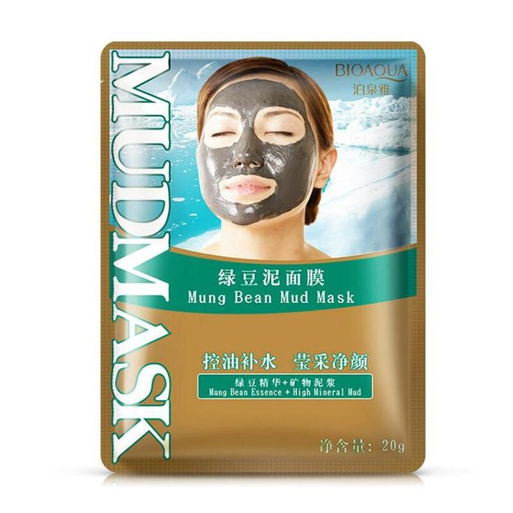 BIOAQUA Mung Bean Mud Deep Cleaning Mask Acne Treatment Remove Blackhead Oil Control Facial Masks Shrink Pores Mud Mask
