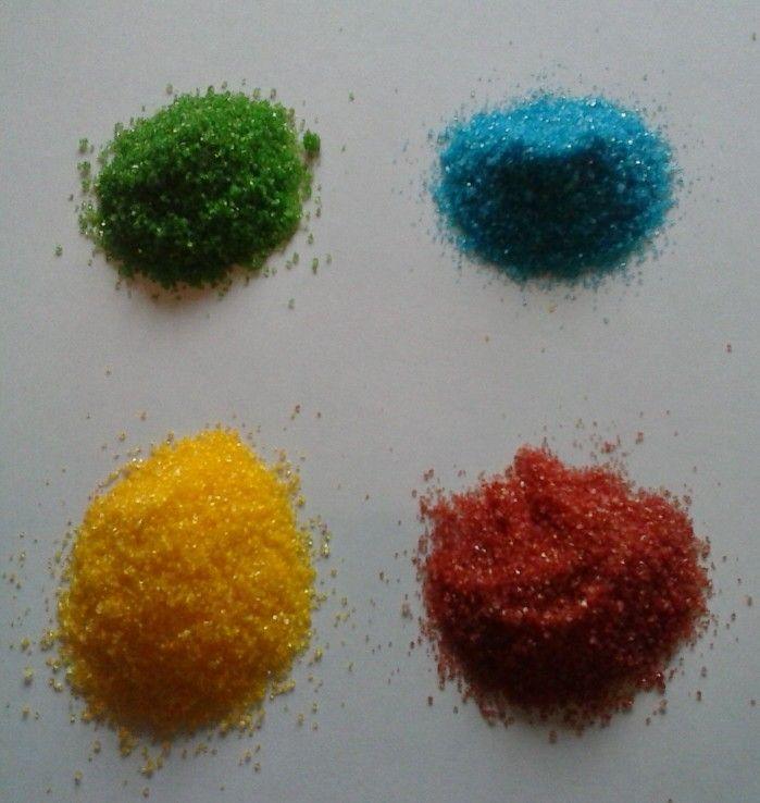 Цветной сахар для декора