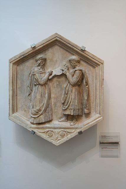 Campanile di Giotto - Luca della Robbia: Euclide e Pitagora o l' Arte della Matematica e della Geometria - 1334-1336 - Museo dell'Opera del Duomo, Firenze