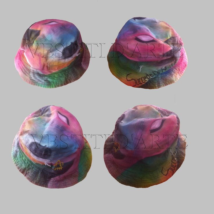 HAND PAINTED UNISEX hat mens hats and caps for womens hats for mens bucket hats for womens clothing hand made hats for gift men summer hat by Vestitidarte