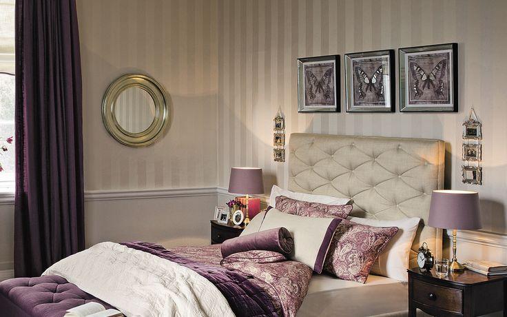 Lille Linen Stripe Wallpaper at Laura Ashley