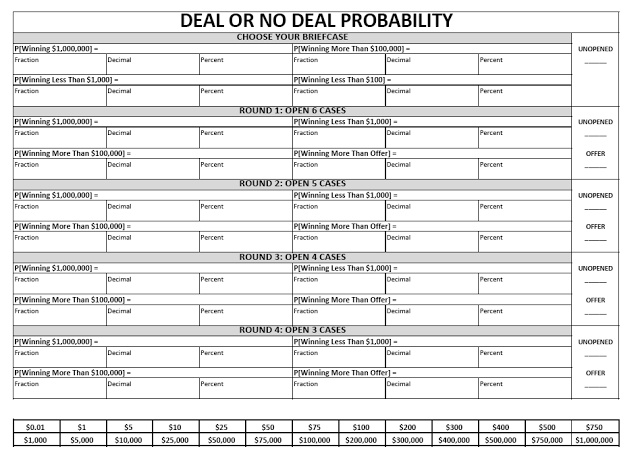 17 best math probability images on pinterest classroom ideas math love teaching probability with deal or no deal fandeluxe Gallery