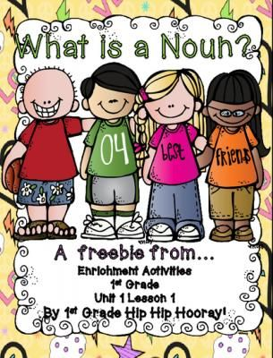 Nouns...a freebie from First Grade Hip Hip Hooray on TeachersNotebook.com -  (6 pages)  - Practice with nouns.